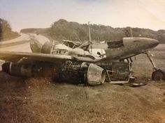 My grandfather's picture of a Messerschmitt ME262, crashed near Augsburg, June 1946