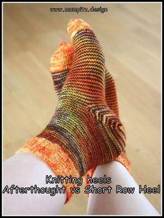 Knitting Sock Heels Afterthought vs Boomerang  Mumpitz Design