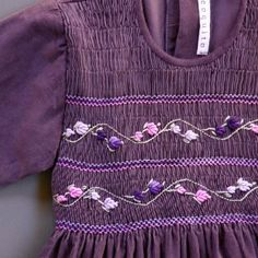 girl dress *indigo* from Coquito Berlin. Lovely pattern on featherweight cord.
