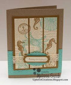 Order Stampin' Up! Online Stampin' Up! Rubber stamps, scrapbooking and supplies. Melissa Sunde Independent Stampin' Up! Masculine Birthday Cards, Handmade Birthday Cards, Masculine Cards, Stampin Up Karten, Stampin Up Cards, Scrapbooking, Scrapbook Cards, Card Tags, I Card