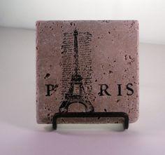 Paris tile coasters