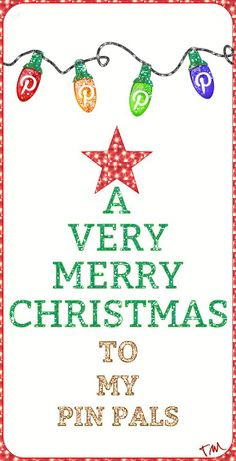 A very Merry Christmas to my pin pals ♥ Tam ♥