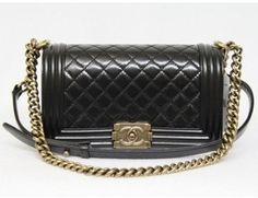 pristine (PR) Chanel Black Quilted Clafskin Small Le Boy Bag, Sold out in Stores on shopstyle.com