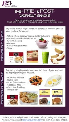 Snacking before and after a workout is a great way to boost your routine. It is important to know what kinds of snacks to eat before your workout and after your workout. For pre-workout a snack high in carbs is our favorite way to gain energy, and a high-protein post workout snack to replenish the muscles.