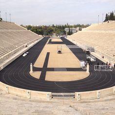 At the Panatenaic Olimpic Stadium /Athens
