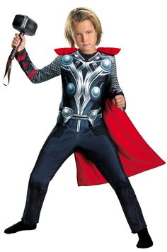 Make your child the Prince of Asgard with the latest Thor costume at just $17.77 from Costume Craze. Gift a beautiful smile with the trendy collection of favorite superheroes costumes.