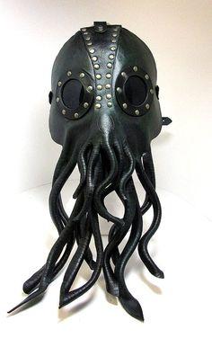 Steampunk Cthulhu mask