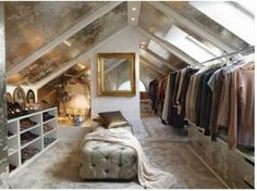 turn the attic into a closet