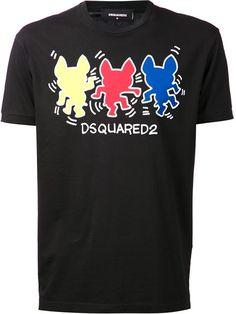 DSQUARED2 Graphic T-Shirt.  dsquared2  cloth  t-shirt Latest Mens 7cb80bac31fe