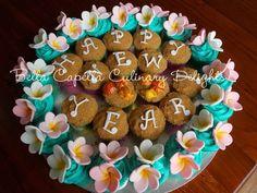 Hawaiian New Years Eve.  Cakes from Bella Capella Culinary Delights in Capella, Queensland's Central Highlands,  Australia.  Contact:  bellacapella@bigpond.com https://www.facebook.com/BellaCapellaCulinaryDelights