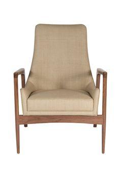 Warren Walnut Lounge Chair - Modern Living Supplies