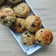 Havregryns muffins Delicious Desserts, Dessert Recipes, Yummy Food, Hygge, Oatmeal Recipes, No Bake Cake, Food Inspiration, Baked Goods, Kids Meals