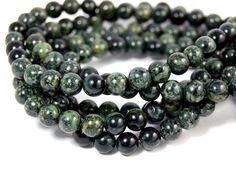 "Two 15"" strands Kambaba Jasper Beads 6mm, Two 15"" strands"