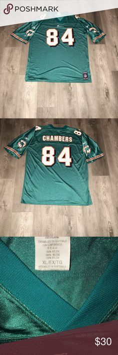Reebok NFL Miami Dolphins Chris Chambers Jersey Men s Vintage Reebok NFL  Miami Dolphins Chris Chambers Jersey Size XL Pre-Owned Great Condition Fast  ... af2392989