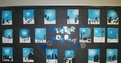 Well the last two weeks have been busy at our school with 4 days of skiing. We lucked out and had beautiful weather with around degrees C. Christmas Art For Kids, Christmas Classroom Door, Art Classroom, 7th Grade Art, Winter Art Projects, Kindergarten Readiness, Art Area, Winter Painting, School Items
