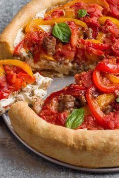 Chicago-Style Deep-Dish Pizza Recipe