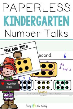 We have taken all the hard work out of implementing daily number talks with your kindergarteners. Number Talks Kindergarten, Kindergarten Lesson Plans, Math Lesson Plans, Preschool Math, Preschool Worksheets, First Grade Lessons, Teaching First Grade, Math Lessons, Math Fact Practice