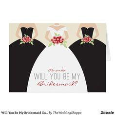 Shop Will You Be My Bridesmaid Card (navy blue) created by TheWeddingShoppe. Be My Bridesmaid Cards, Will You Be My Bridesmaid, Wedding Bridesmaids, Bridesmaid Ideas, Bridesmaid Dresses, Custom Thank You Cards, Wedding Thank You Cards, Custom Invitations, Wedding Invitations