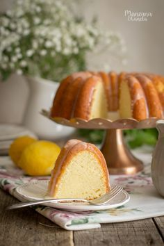 Cookie Recipes, Dessert Recipes, Desserts, Lemon Bundt Cake, Bunt Cakes, Plum Cake, Pan Dulce, Sweet Recipes, Sweet Tooth
