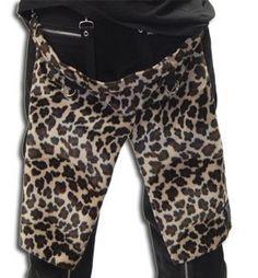NEW - Fuzzy Leopard Split Bum Flap by Tiger Of London