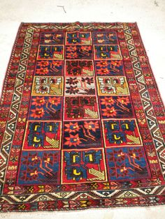 """Antique Persian Bakhtiari From The 1920's. 4'3""""x 6'6"""""""