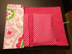 Baby Changing Pad and Diaper Clutch in Pretty by OhhSewSweetByJess, $24.00
