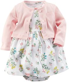 Carter's Baby Girls' 2 Piece Floral Dress Set (Baby) - Pink - 3M