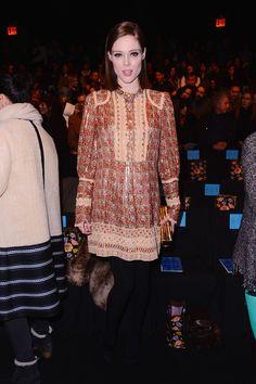 Coco Rocha: Anna Sui Fall 2015 Front Row - February 18, 2015