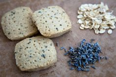 Oatmeal and Lavender Shortbread (easily made vegan by replacing butter with Earth Balance buttery sticks).