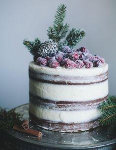 Natural Christmas Cake decoration