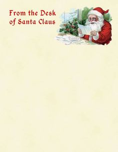 Santa Claus Letter Paper Or Wishlist Printable Sheets Parenting