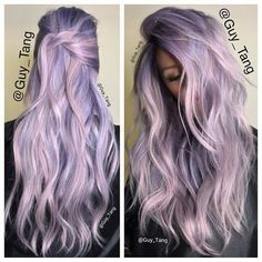 Pastel on Ice - Purple Hairstyles That Will Make You Want Mermaid Hair - Photos