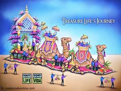 Donate Life Rose Parade 2016 Float – Treasure Life's Journey