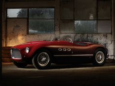 """Ferrari 212 Spyder by Rolf Nachbar,   The song that inspired Rush's iconic song """"Red Barchetta"""""""