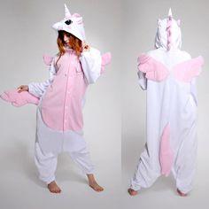 Pink Unicorn Onepiece Adult Kigurumi Pajamas Animal Cosplay Costume Pyjamas