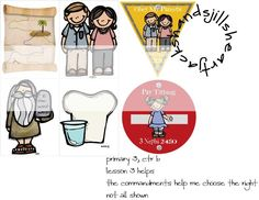 Primary 3 CTRb Lesson 3 helps, the commandments help me to choose the right