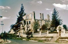 Chateau Napier Leura, burnt in the 1957 bushfire