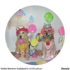 Golden Retriever Candyland Party Plates