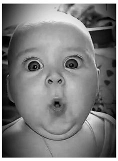 Now THAT is a face of sheer surprise! How cute is that chubby little face☺❤ Funny Baby Faces, Funny Babies, Funny Kids, Cute Kids, Cute Babies, Precious Children, Beautiful Children, Funny Memes, Hilarious