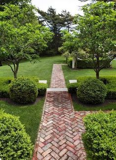 25 Most Beautiful DIY Garden Path Ideas - A Piece Of Rainbow  not sure this first one is truly a diy with angle cuts on the brick...