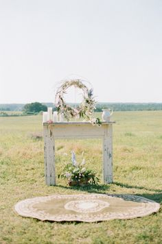 Wedding Photography, Ceremony Site, Wreath, Ceremony Decor, via I Love SW Mag