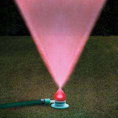 The Water And Light Show Sprinkler - Hammacher Schlemmer