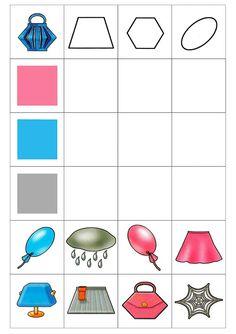 vormenmatrix 1 4 Year Old Activities, Autism Activities, Toddler Activities, Activities For Kids, Montessori Math, Preschool Kindergarten, Kindergarten Worksheets, Shape Games, Learning Numbers