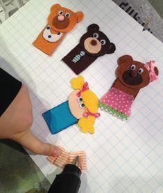 Tutorial marionetas de dedo- Ricitos de Oro con fieltro  DIY finger puppet Goldilocks