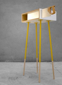 Alta by Atik Project. This could easily also be in the trends section of the research but I like the details included in this quite simple design. The partially painted legs are very cool and the saw/sliding panel is just inspired. It really stands out but could fit quite well into many homes.