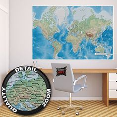 Historical world map poster xxl wall picture decoration https jetty into paradise wall decoration mural beach motiv xxl wallpaper by great art inch x cm x 100 cm gumiabroncs Choice Image