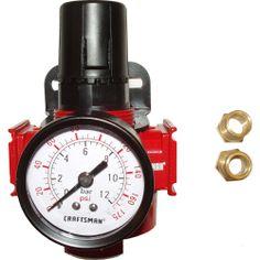 Craftsman Heavy Duty Air Line Regulator with Gauge - Tools - Air Compressors & Air Tools - Air Compressor Accessories