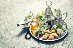 Tea pot and glasses, oriental table by LiliGraphie on Creative Market