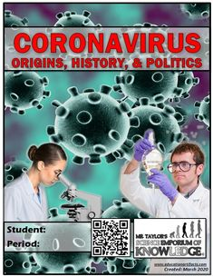 Welcome to the most complete comprehensive guide to understanding all you need to know about the current Coronavirus outbreak.  Teachers, parents, and homeschoolers, this guided note packet is for you. Each page is content driven and focuses on the subject matter that means the most.  With over 40 pages, you will be sure to cover all areas including what a virus is, the different types, and the ORIGINS, HISTORY, AND POLITICS of the CORONAVIRUS. Formative Assessment Tools, Severe Weather, Science Education, Read Aloud, Origins, Homeschool, Parents, Knowledge, Politics