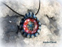 UV Blacklight Pendant Trippy with  UV Colors and Glow by InnerMind